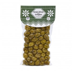 Green Olives with oregano 250g