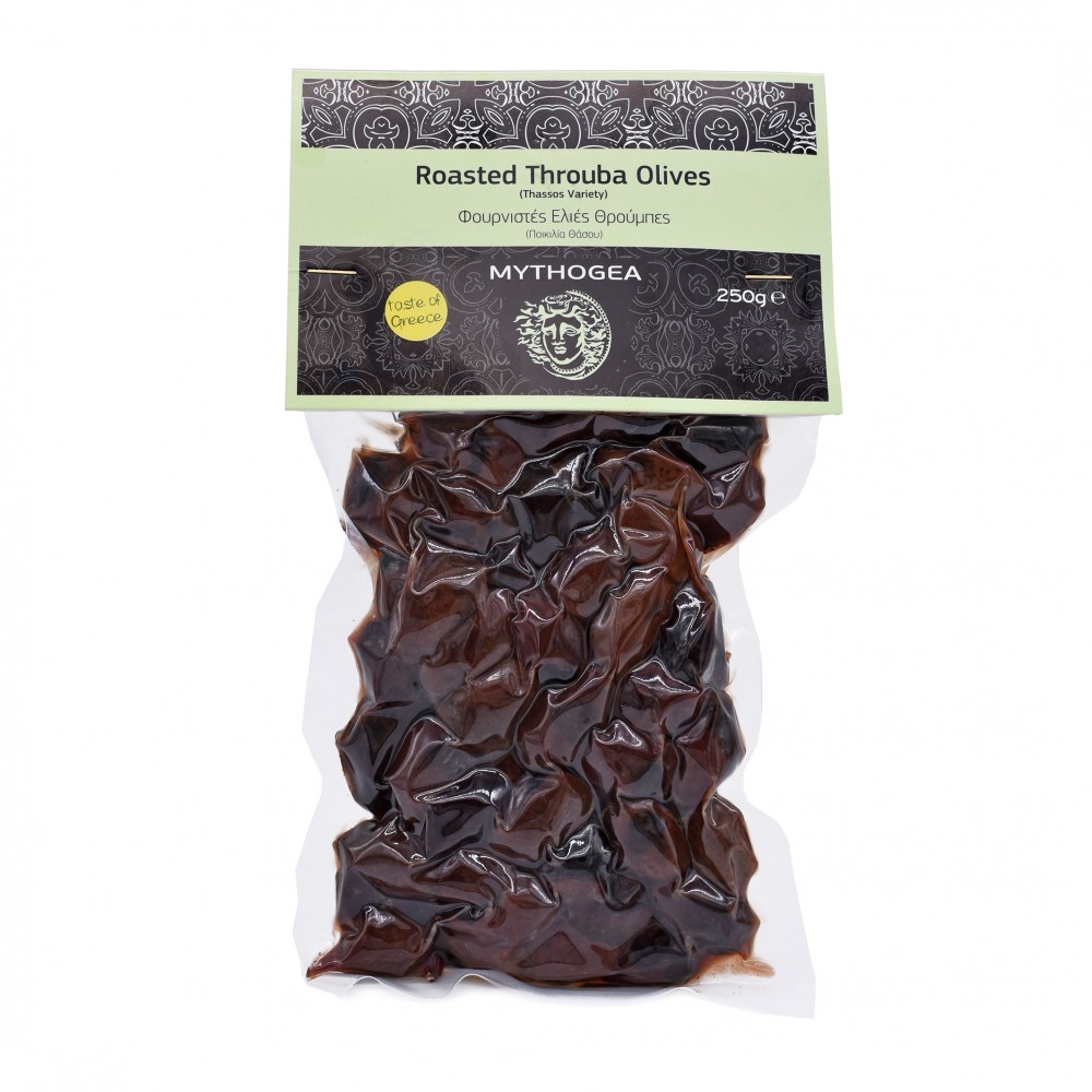 Roasted Throuba Olives (Thassos Variety) 250g