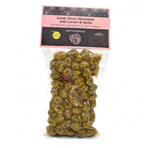 Greek Olives Marinated with Lemon & Herbs 250g