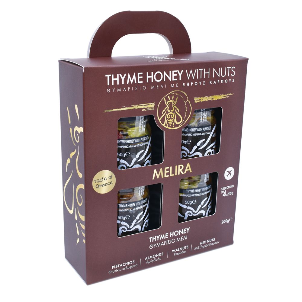 Thyme Honey with Nuts Special Gift Pack 4x50g